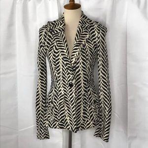 Diane Von Furstenberg Zebra Striped Blazer